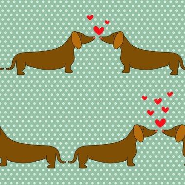 Cartoon dogs pattern.