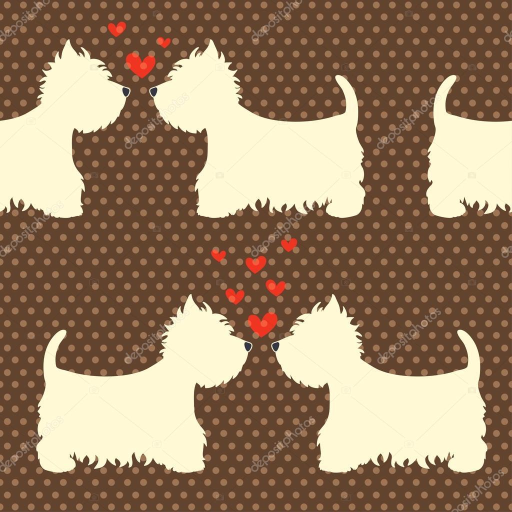 Cartone animato cani patern — vettoriali stock