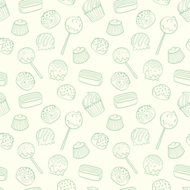 Cartoon candys pattern.