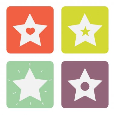Vector set of stars icons