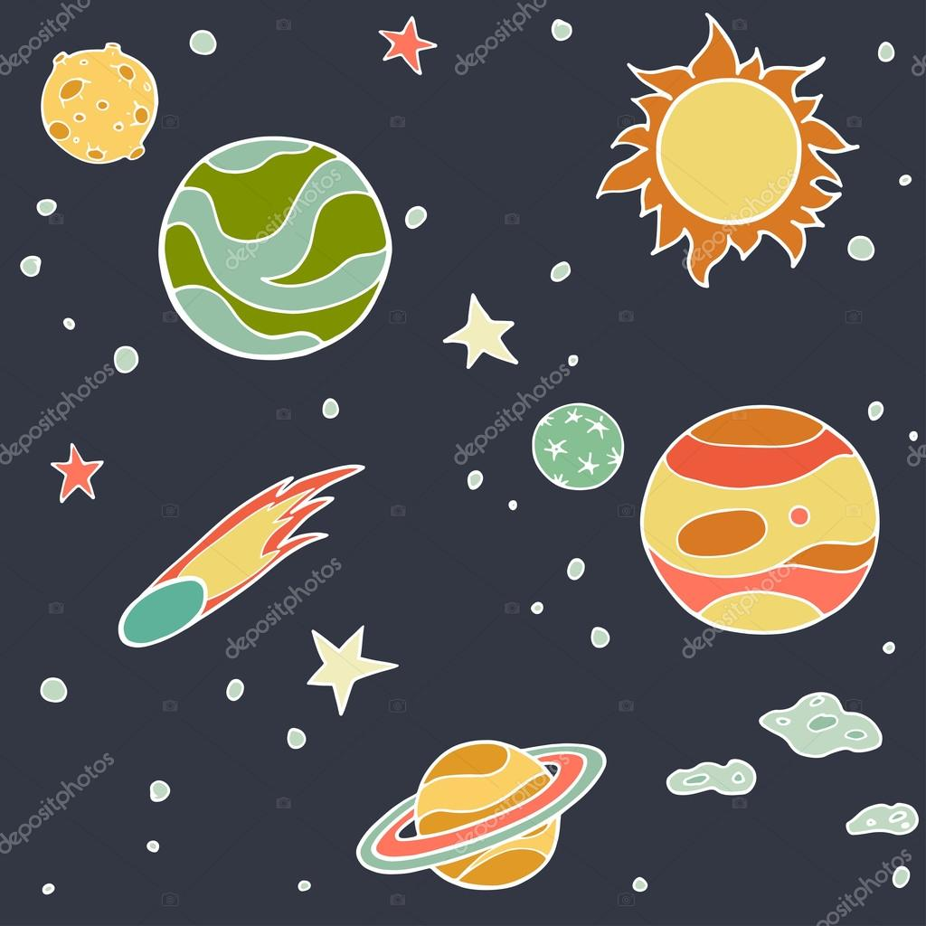 drawings of planets animation - photo #12