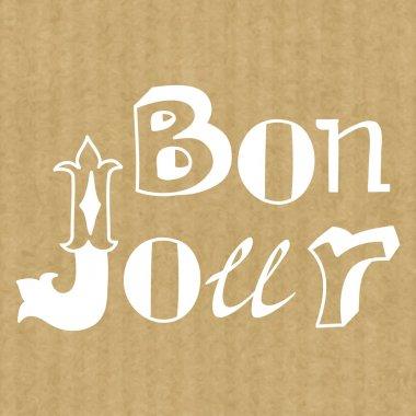 hand drawn lettering Bonjour