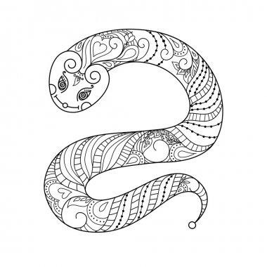 Cartoon  Snake silhouette