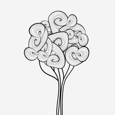 Hand drawn tree symbol.