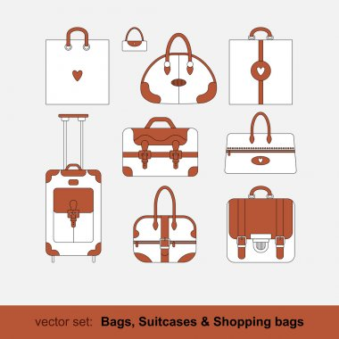 Set of shopping bags
