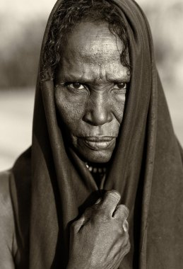 Old woman of the Arbore tribe, Ethiopia