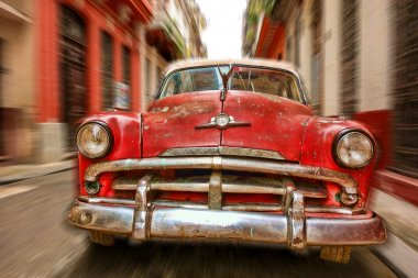 Classic American car in the streets of old Havana, Cuba