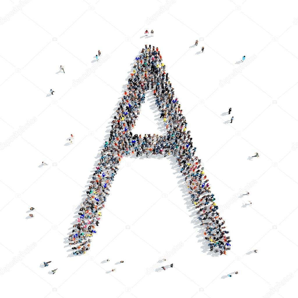 People Letter Alphabet Icon Stockfoto C Tai11 101682840