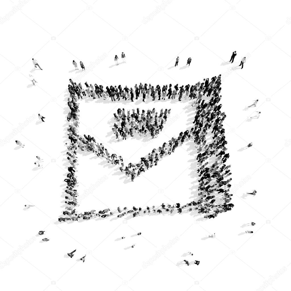 Menschen Gestalten Brief Cartoon Stockfoto Tai11 104375502