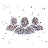 Velká skupina lidí, symbolizující lidí
