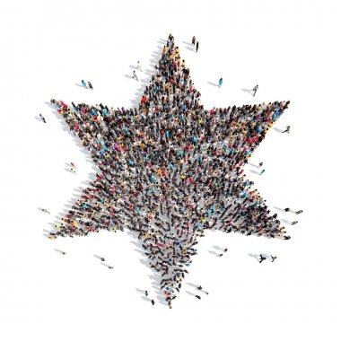 people in the form of a Jewish star.