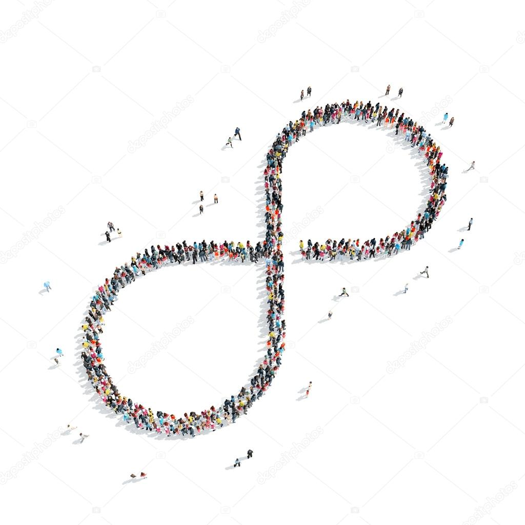 People shape infinity symbol stock photo tai11 80022858 a group of people in the shape of an infinity symbol a flash mob photo by tai11 buycottarizona Gallery
