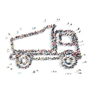 people  shape truck transportation