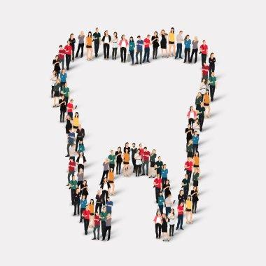 people  shape  tooth dental