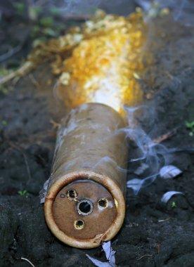"Картина, постер, плакат, фотообои ""дымовые шашки после взрыва "", артикул 61237499"
