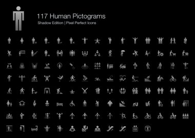 Human Pictogram Pixel Perfect Icons Shadow Edition