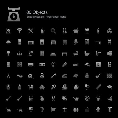 Objects Pixel Perfect Icons Shadow Edition