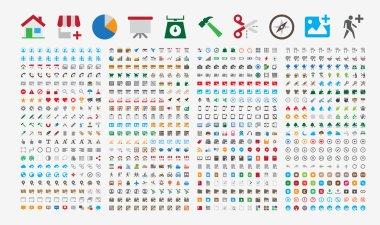 800 Premium Icons. Round corners. Flat colors. Pixel Perfect at 24x24px.