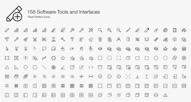 No matter what kind of app you are building, the Software Tools and Interfaces icon set plays a very important part in it. This icon set provides some of the most essential graphics for your project. clip art vector