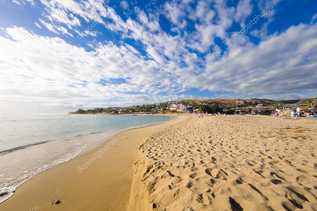 Beach of Saint Gilles at Reunion Island