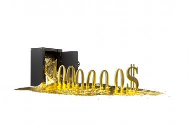 safe and liquid gold. Gold rises million dollars. mask included.