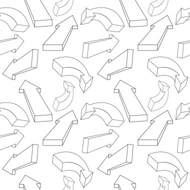 Seamless pattern from arrows. Vector illustration