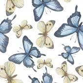 Nahtloser Vektor-Muster. Aquarell Schmetterling. Vektor-illustrati