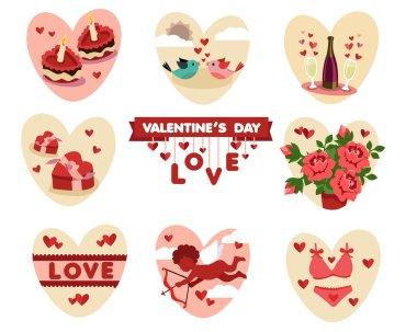 Valentine's (love) vector icons set clip art vector