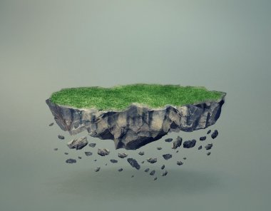 Floating Rock Island