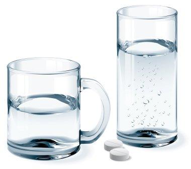 Mug and glass of water