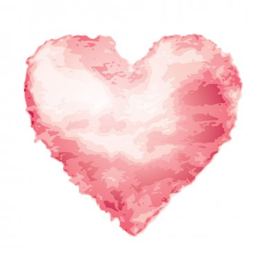 Pink watercolor heart shape. Eps8. CMYK. Global colors. Organized by layers. Gradients used. clip art vector
