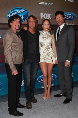 Scott Borchetta, Keith Urban, Jennifer Lopez, Harry Connick Jr