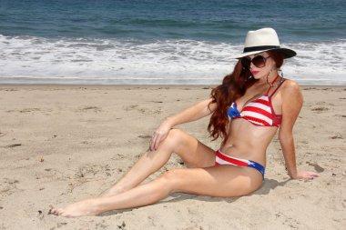Phoebe Price  at Malibu Beach