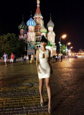 Bai Ling in Moscow