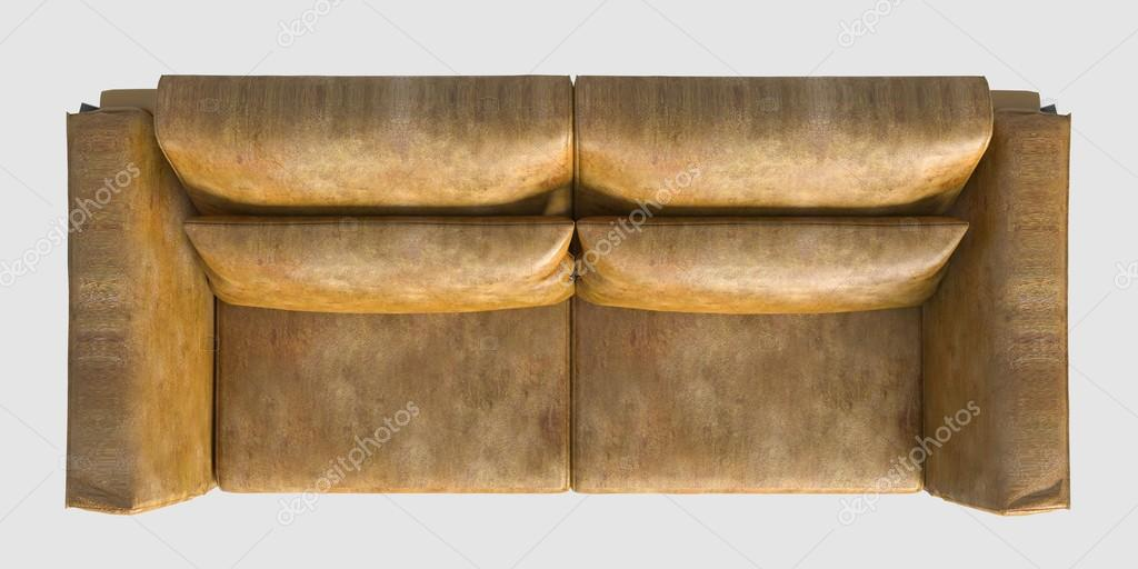Rendering Sofa Top View Isolated On White Stock Photo C Vik173