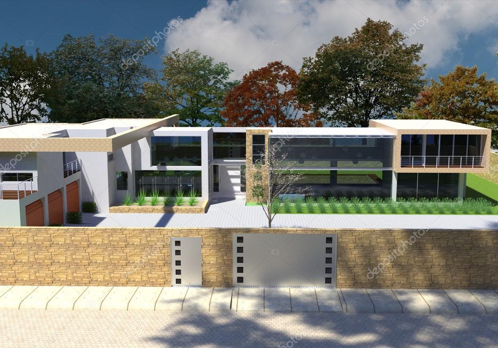 3D Render Des Modernen Hauses Im Freien U2014 Foto Von Vik173