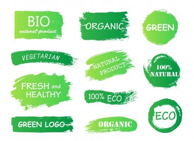 eco green organic bio logos