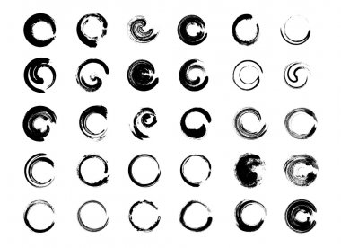 Big collection of hand drawn circles.