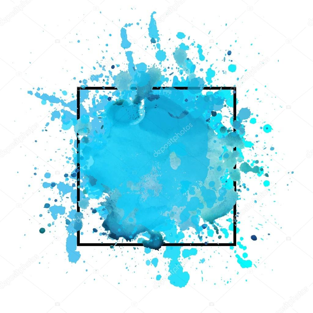 blue watercolor background template stock vector olga c 123833234
