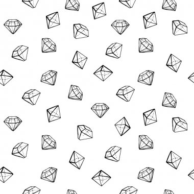 Jewels fashion seamless pattern.