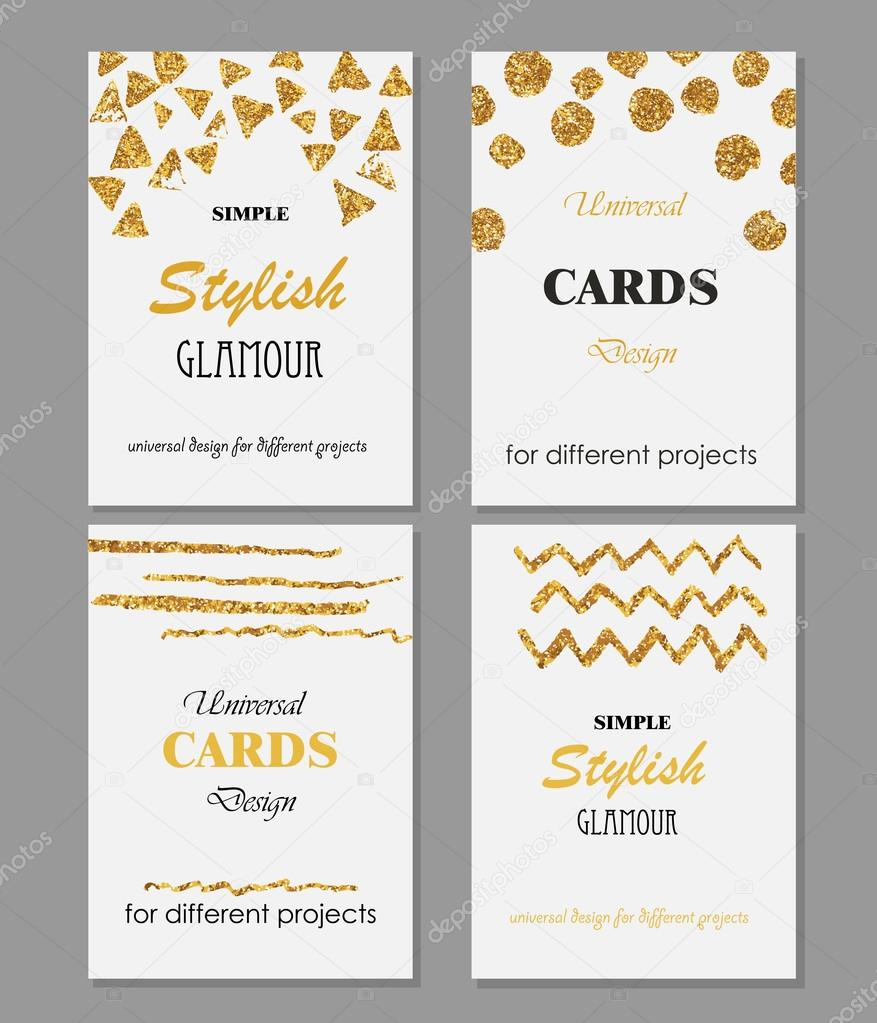 Colección de plantillas de tarjetas con estilo moderno Universal con ...