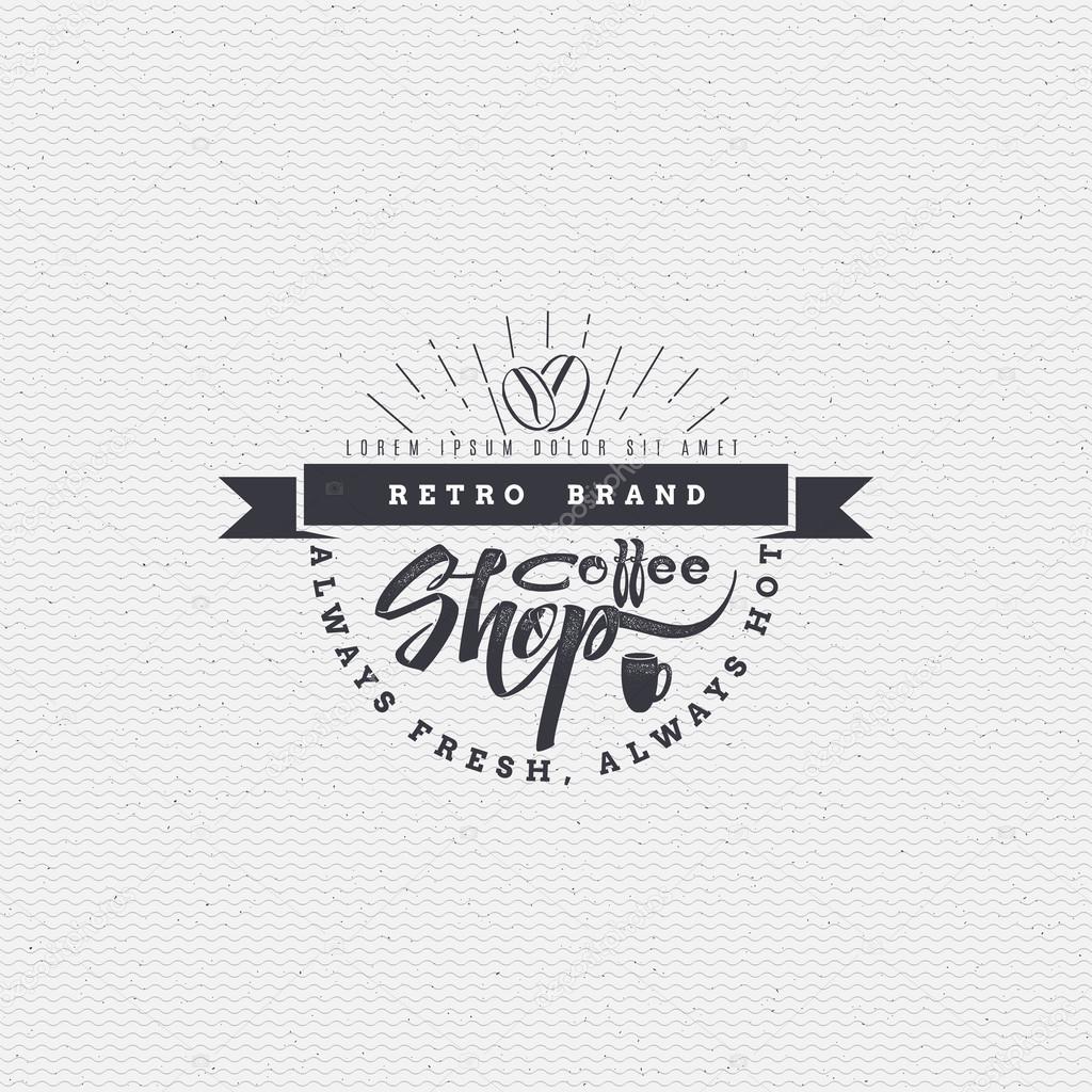 Kleding Websites.Koffie Shop Badge Uithangbord Kan Worden Gebruikt Voor Het