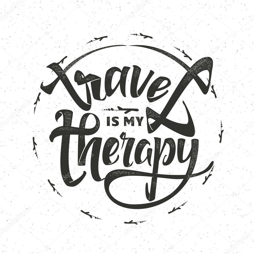 Cestovni Inspirace Citaty A Letadlo Silueta Je Moje Terapii