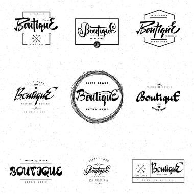 Fashion Boutique Premium - badge, logo, sticker elite class, retro brand for your design