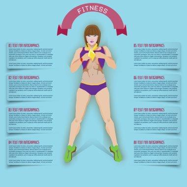 info graphics fitness, flat illustratuion.