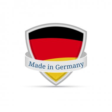 Made in Germany, German flag on the shield