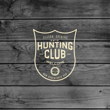 Hunting badges logos and labels