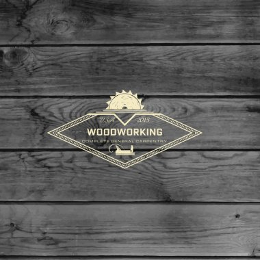 Woodworking badges logos and labels