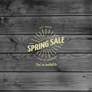 Spring sale badges logos and labels