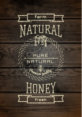 Honey badges logos and labels